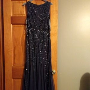 Adrianna Papell Midnight Blue Formal Gown